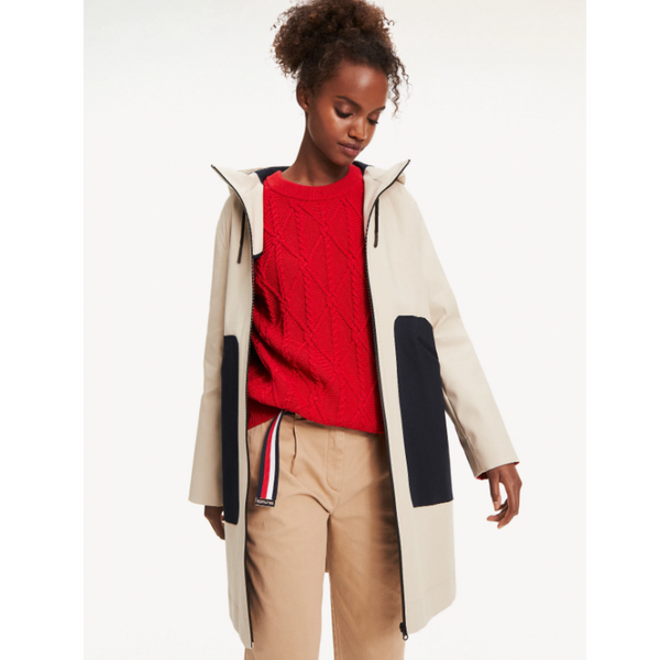 Tommy Hilfiger COLOUR-BLOCKED BONDED PARKA 2657