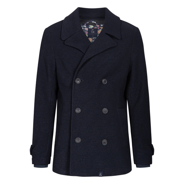 Colours And Sons Double Breasted Peacoat Raw Denim 9220-690