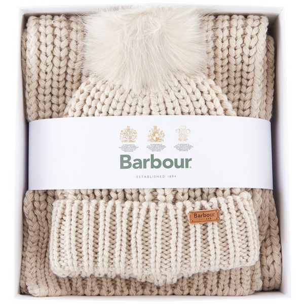 Barbour Saltburn Beanie & Scarf Gift Set LGS0023