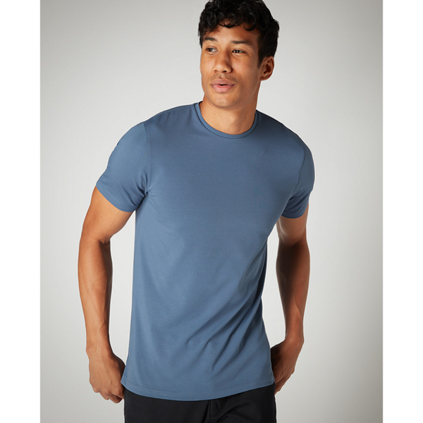 Remus Uomo Short Sleeve Casual T-Shirt Soft and Stretchy Luxurious Feel 53121 - Air Force Blue