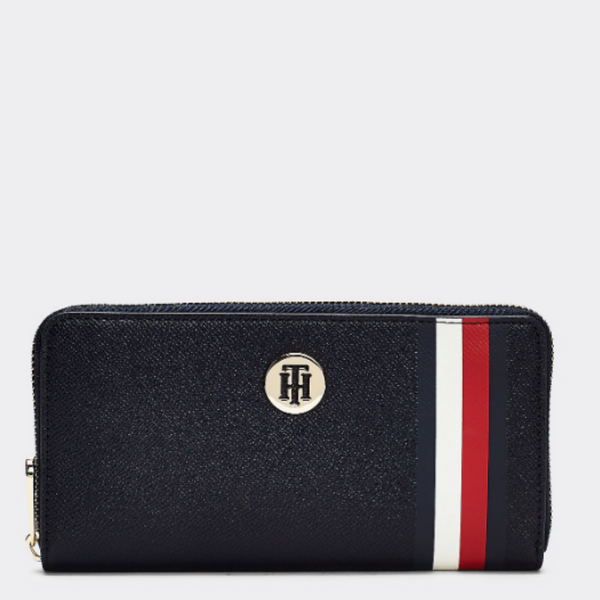 Tommy Hilfiger LARGE SIGNATURE MONOGRAM ZIP-AROUND WALLET 8366