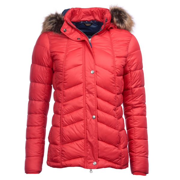 Babour Bernera Red Quilted Jacket LQU0949