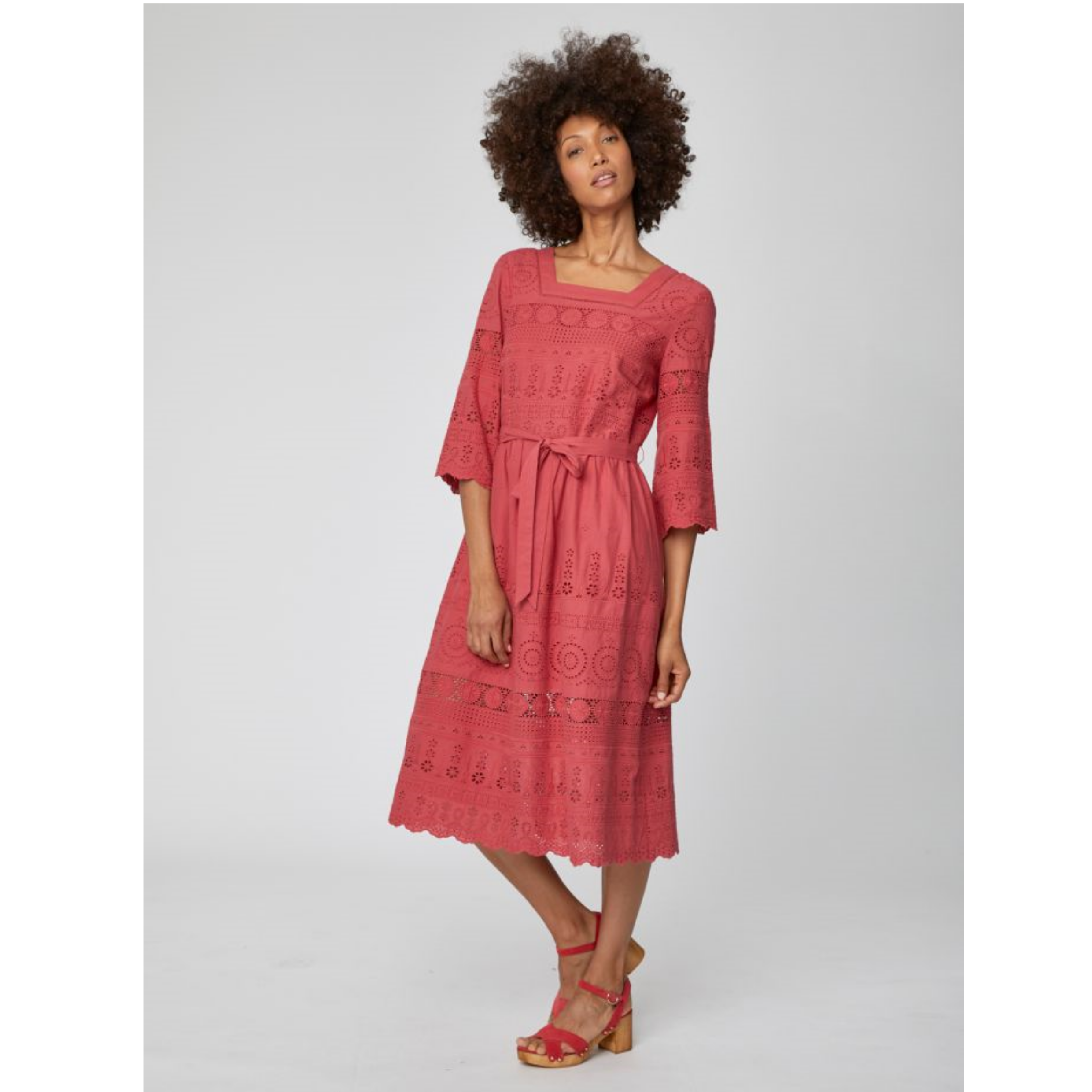 Thought Briony Organic Cotton Embroidery Anglais Dress WSD4169
