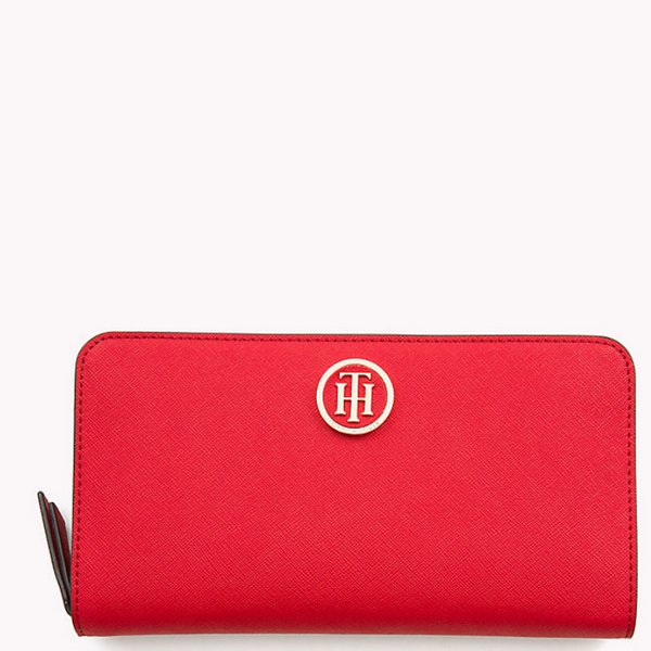 TOMMY HILFIGER LOGO ZIP AROUND WALLET 05183