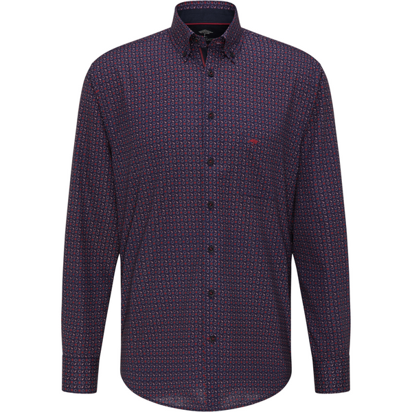 Fynch Hatton Premium Soft Spot Paisley Shirt 1220 6110