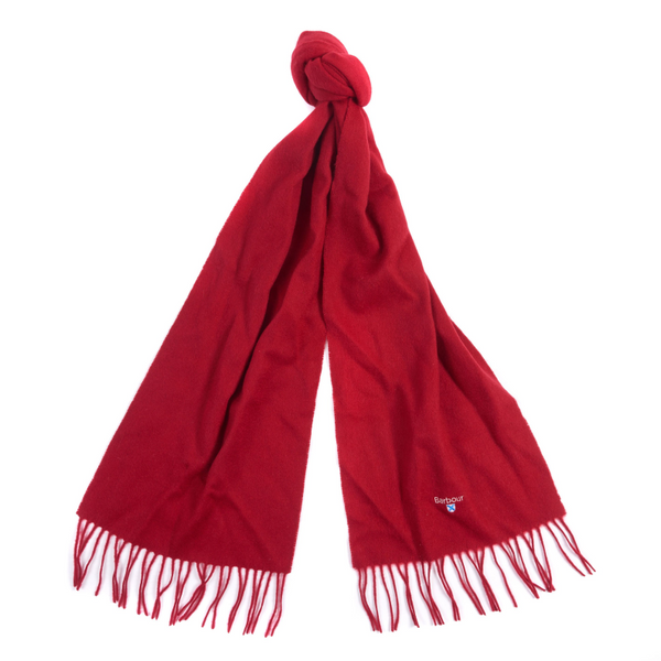 BARBOUR PLAIN LAMBSWOOL SCARF USC0008RE11 - RED