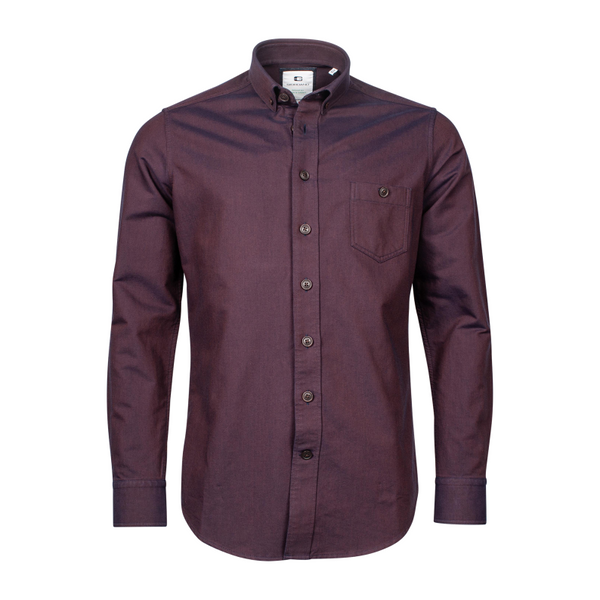 GIORDANO LUCCA BUTTON DOWN OVERSHIRT WINE 207869
