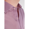 ETERNA LONG SLEEVE SHIRT SLIM FIT TWILL RED/BLUE PRINTED