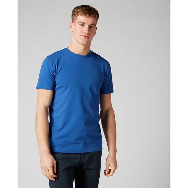 Remus Uomo Short Sleeve Casual T-Shirt Soft and Stretchy Luxurious Feel 53121 - Royal Blue