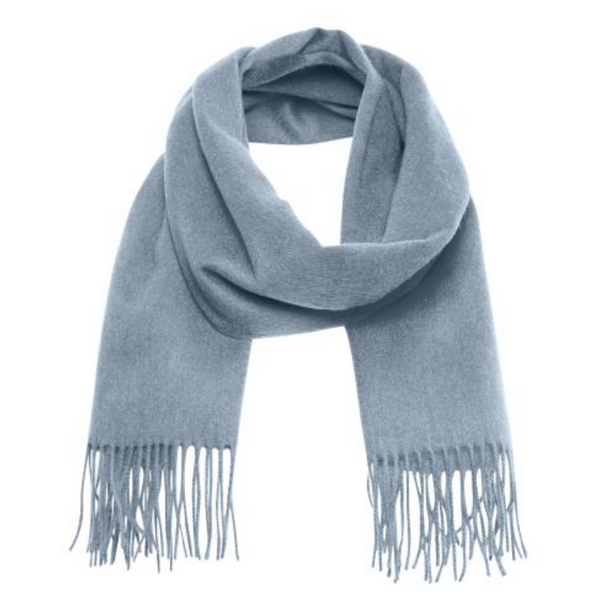 Part Two Wool Cita Scarf in Dusty Blue 3808