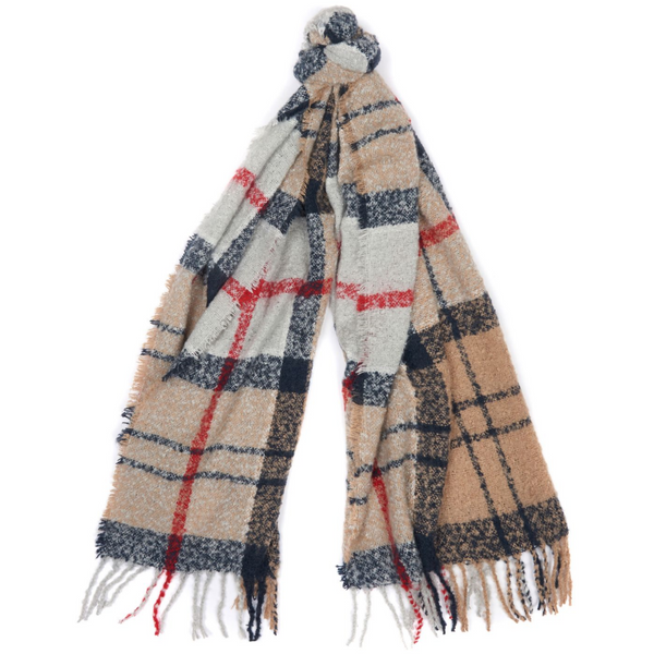 Barbour Tartan Boucle Oversized Scarf LSC0130