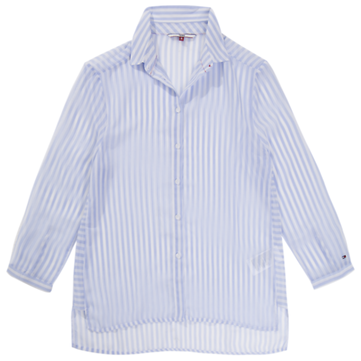 Tommy Jeans Stripe Lightweight 3/4 Sleeve Shirt 4191