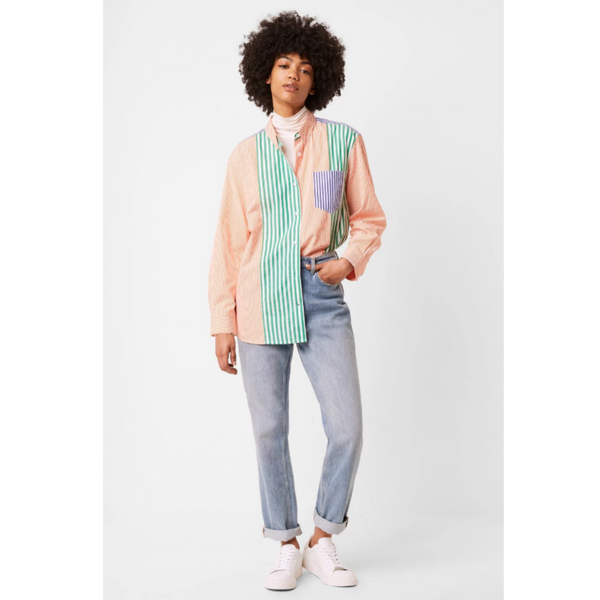 French Connection ADISA STRIPE COLOURBLOCK SHIRT 72NAA