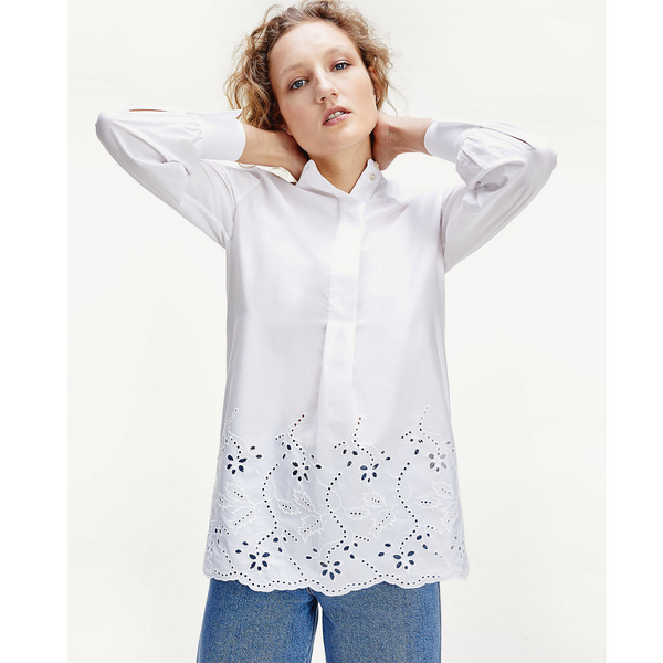 Tommy Hilfiger BRODERIE ANGLAISE RELAXED FIT SHIRT 27380