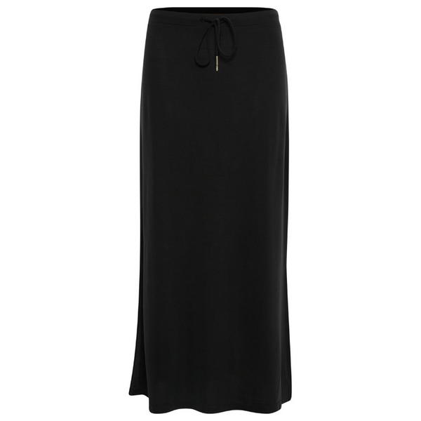 Part Two Lally Jersey Drawstring Black Skirt 3104