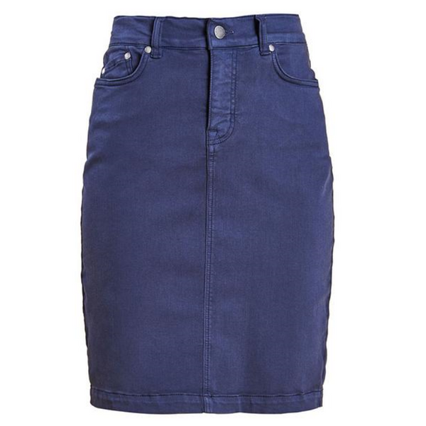 Barbour Navy Denim Essential Skirt LSK0034