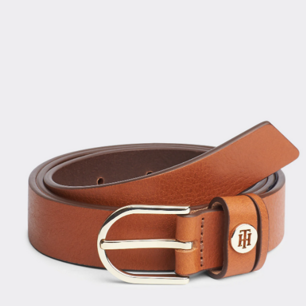 Tommy Hilfiger Classic Cognac CLASSIC SLIM LEATHER BELT 7658