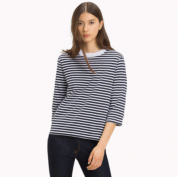 Tommy Jeans Stripe 3/4 Sleeve Tee 5093