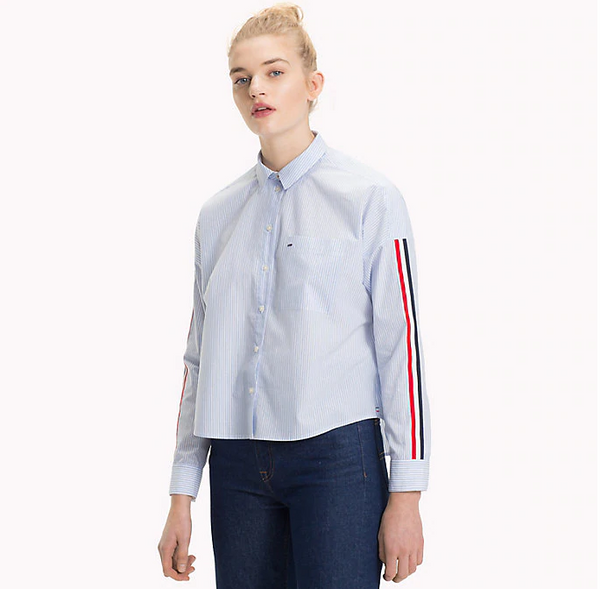Tommy Jeans Signature Sleeve Boyfriend Shirt 5297
