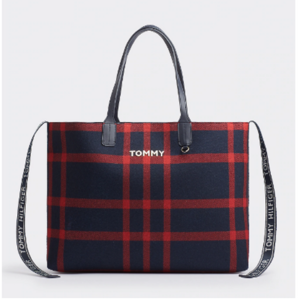 Tommy Hilfiger Icon Check Tartan Tote 7426