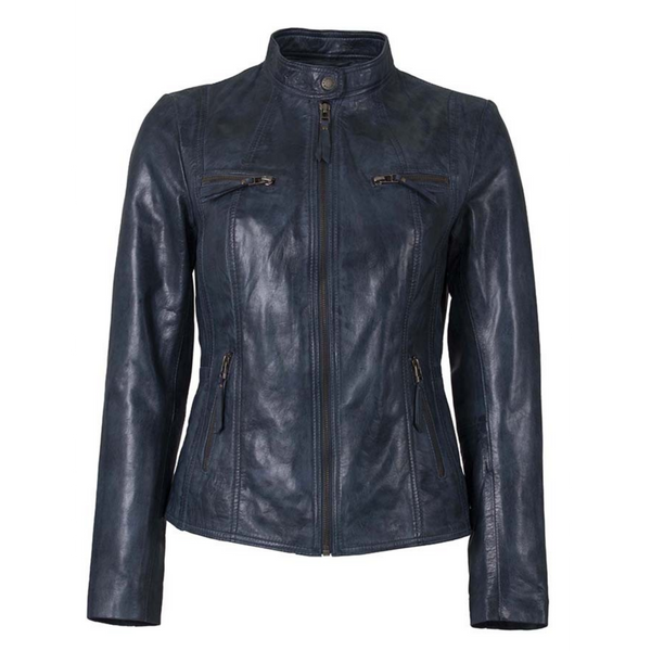 HELIUM MEGGHAN LEATHER JACKET IN TEAL