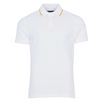 Barbour Malin White Polo Contrast Orange Trim MML1123