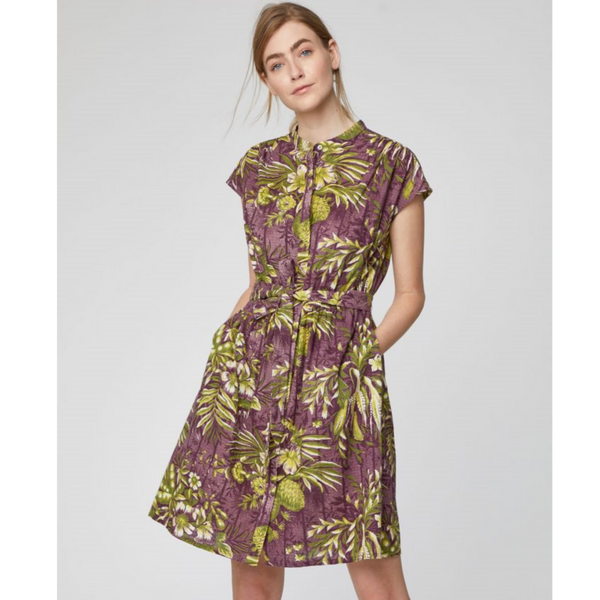 Thought Tesari Tropical Print Hemp Dress 4204