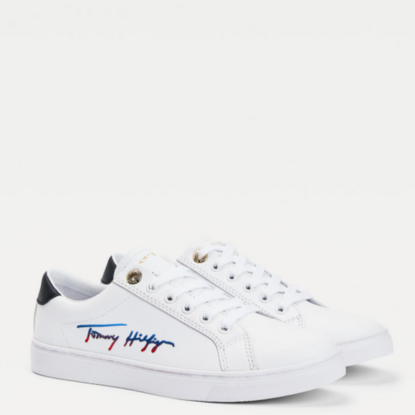 Tommy Hilfiger Signature Cupsole Leather Sneaker 5543