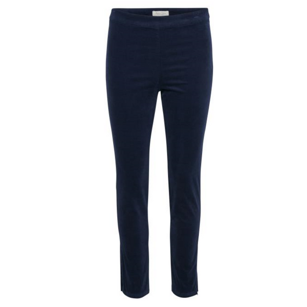 Part Two Janrietta Velvet Blue Trouser 3719