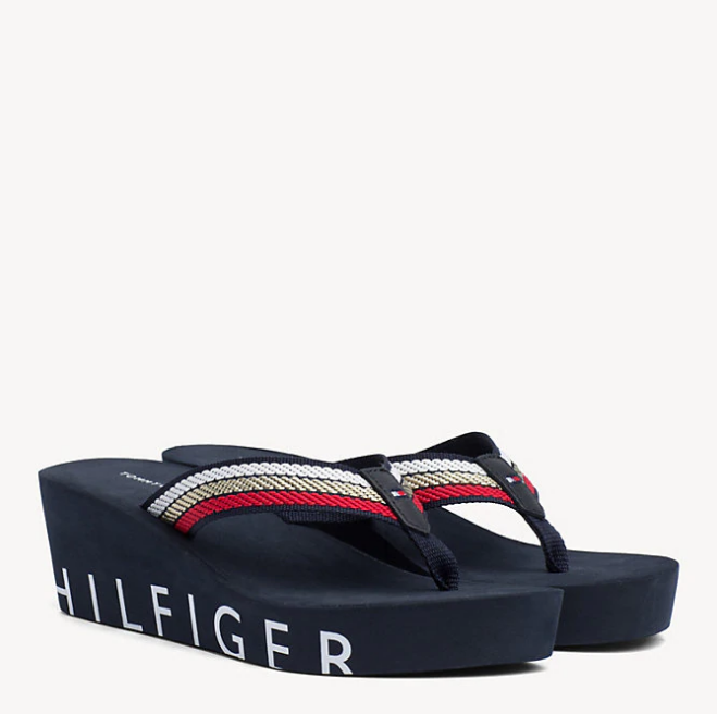 9a80b077e361 Tommy Hilfiger Iconic Wedge Beach Sandals 3866 – Jepsons Online