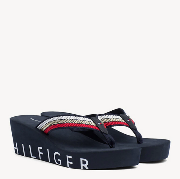 Tommy Hilfiger Iconic Wedge Beach Sandals 3866