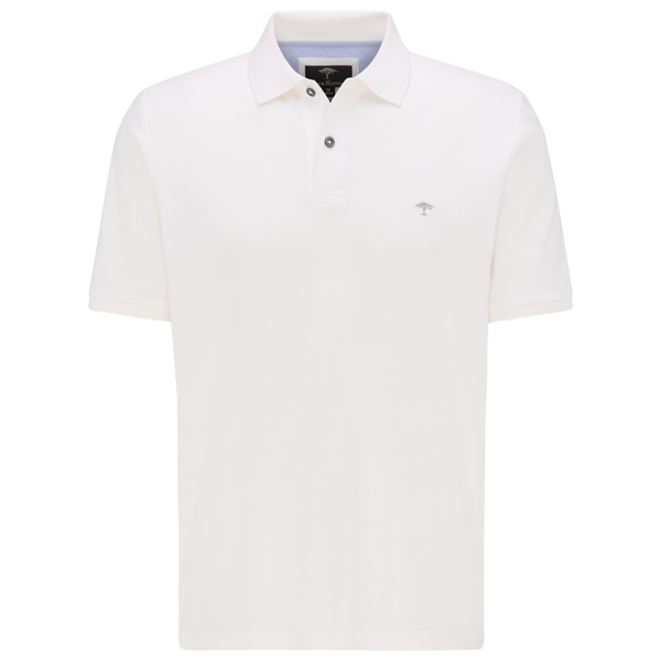 Fynch Hatton Men's Luxury Supima Cotton Smooth Polo 1120-1711 - White