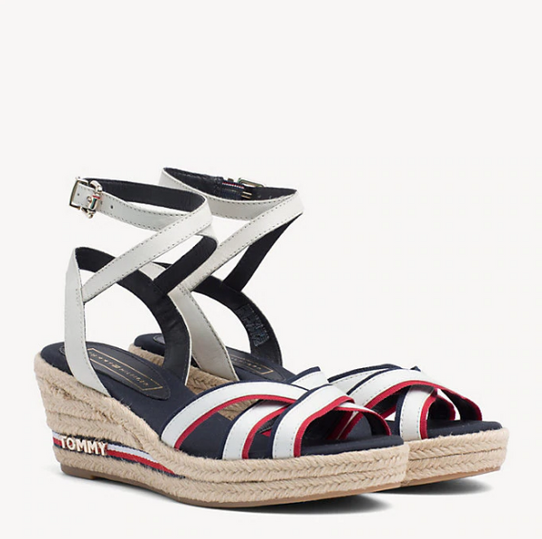 Tommy Hilfiger Iconic Elba STRAPPY SIGNATURE TAPE WEDGE 4056