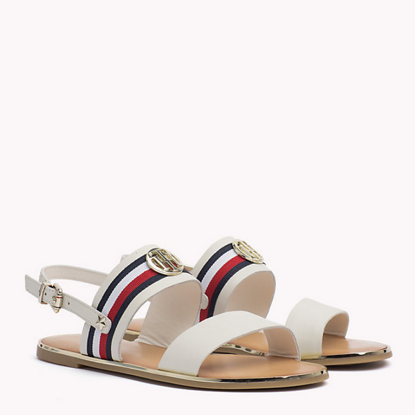 Tommy Hilfiger Ribbon Flat Leather Sandal 2811
