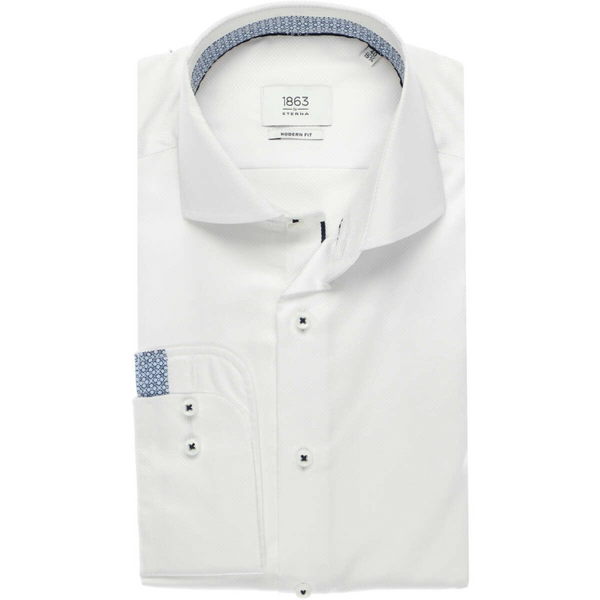 ETERNA 1863 MODERN FIT SHIRT WHITE TEXTURED 3960.X66V.00
