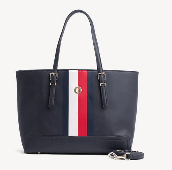 Tommy Hilfiger Honey REMOVABLE POUCH SIGNATURE TOTE BAG 6472