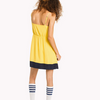 Tommy Jeans Yellow Colour Block Strap Dress 4237