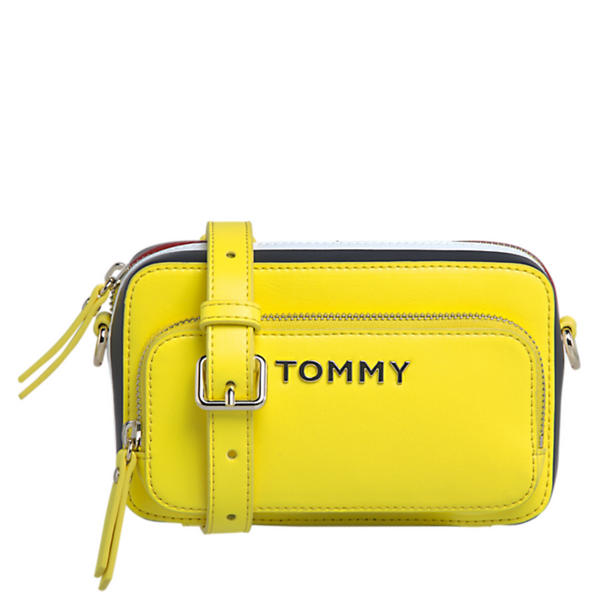 Tommy Hilfiger SIGNATURE TAPE CAMERA BAG HYPER YELLOW 7690