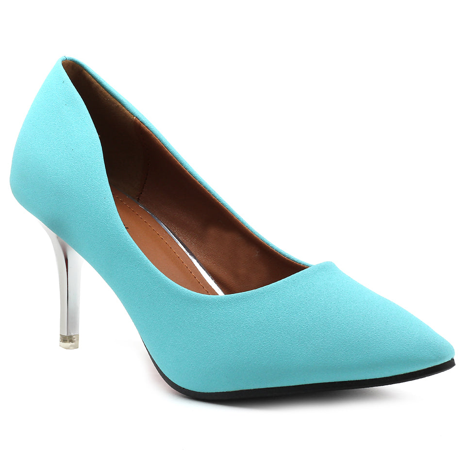 Blue Fabric Pumps - SB-18001