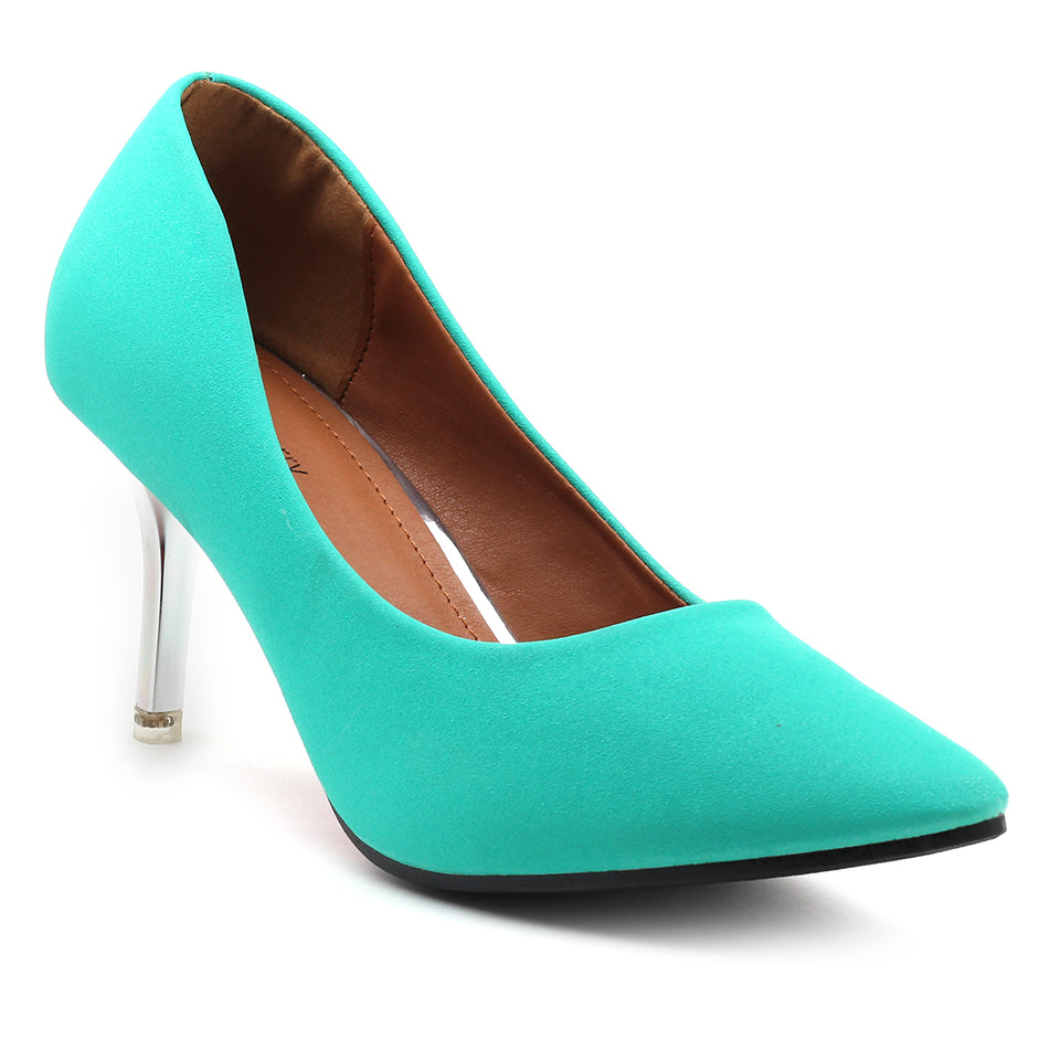 Dark Green Fabric Pumps - SB-18001