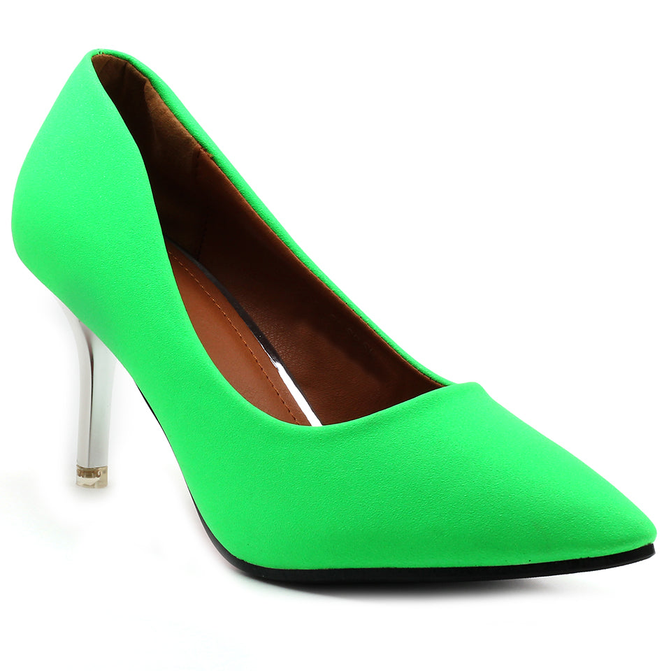 Green Fabric Pumps - SB-18001