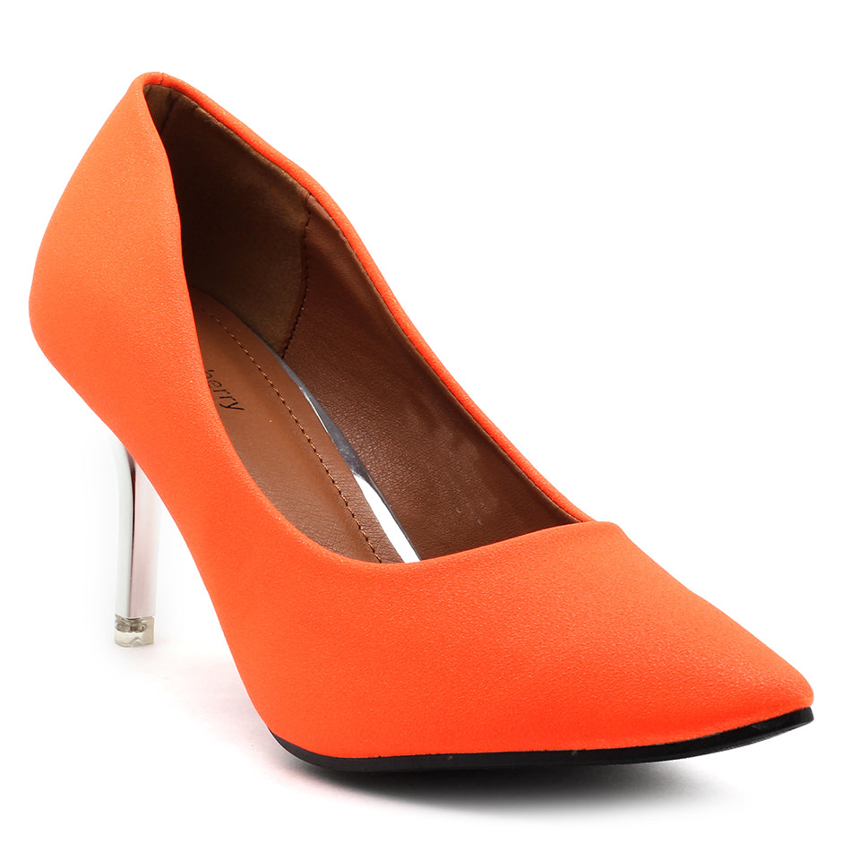 Orange Fabric Pumps - SB-18001