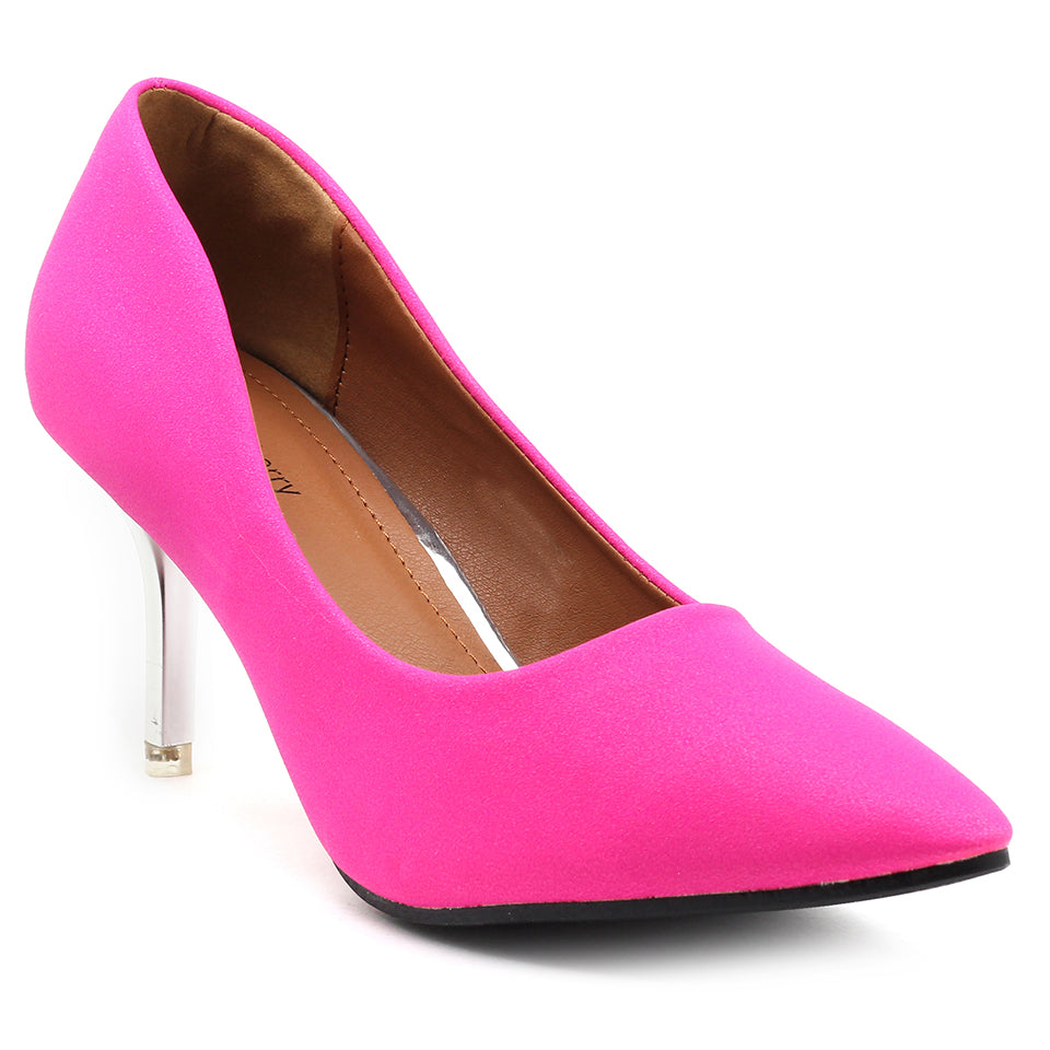 Pink Fabric Pumps - SB-18001
