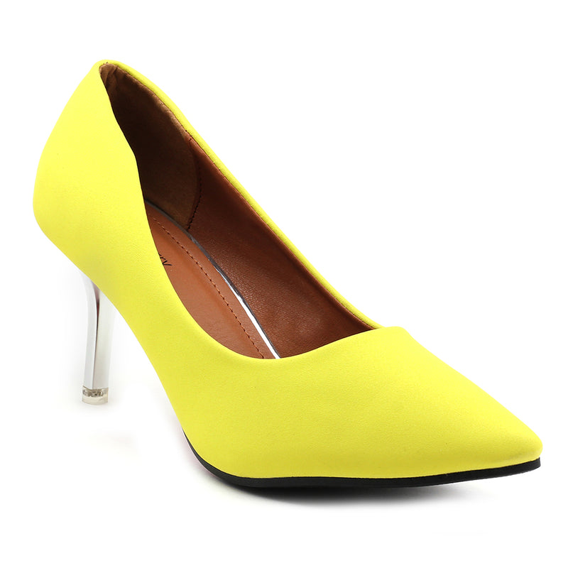 Yellow Fabric Pumps - SB-18001