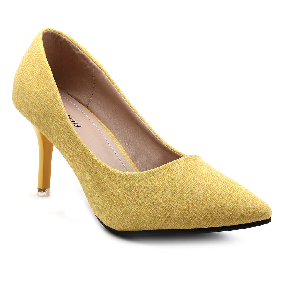 Yellow Suede Pumps - SB-18002