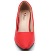 Red Faux Leather Pumps - SB-18004