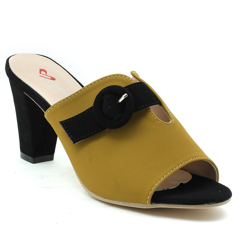 Olive Faux Leather Mule - SB-18006