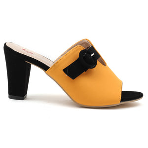 Yellow Faux Leather Mule - SB-18006