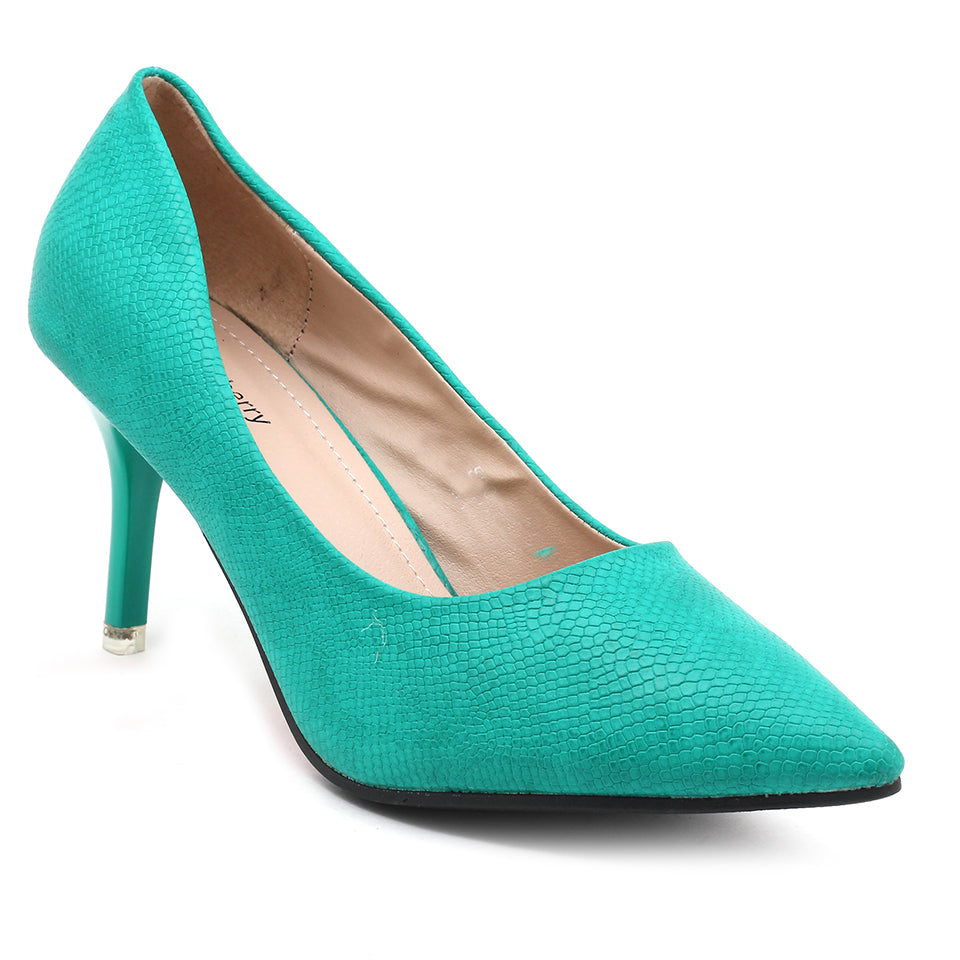 Green Faux Leather Pumps - SB-18008