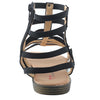 Black Faux Leather Gladiator - SB-18010